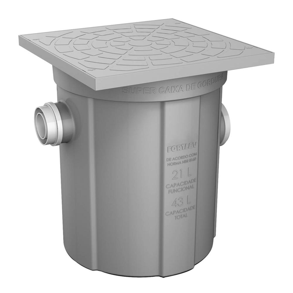 Caixa de Gordura Com Cesto de Limpeza p/ 43 litros – Fortlev